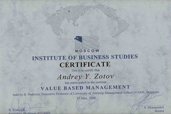 Education zotov value